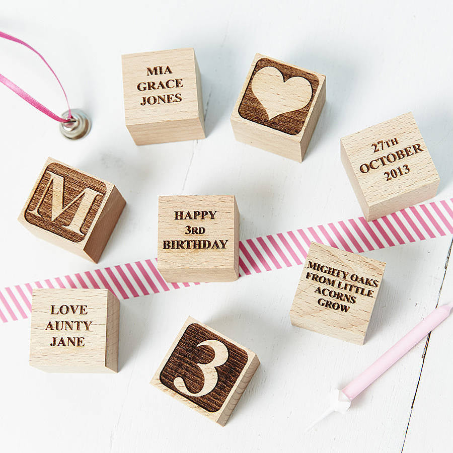 Personalised Birthday Building Block