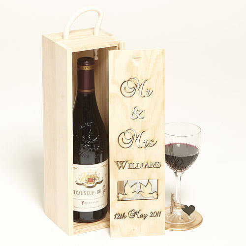 Mr & Mrs Personalised Bottle Box