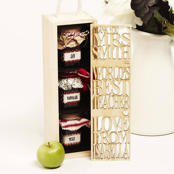 Personalised Teacher Thank You Bottle Box