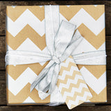 Silver Chevron Brown Christmas Wrapping Paper