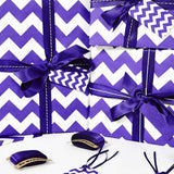 Recycled Purple Chevron White Wrapping Paper