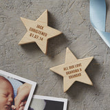 Personalised Christening Keepsake Wooden Star