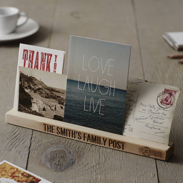 Personalised Wooden Family Post Rack