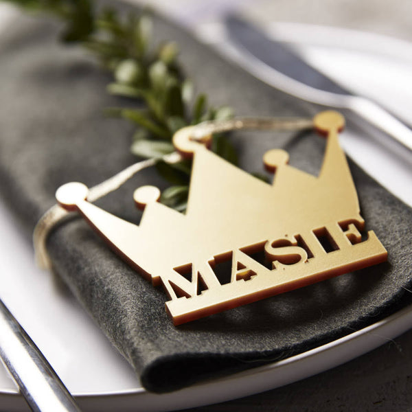 Crown Personalised Place Settings
