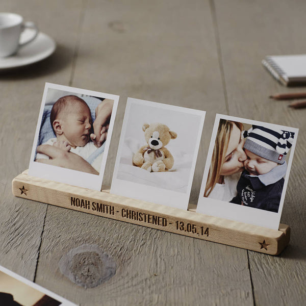 Personalised Christening Star Photo Block