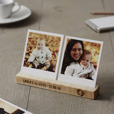 Personalised Baby's First Steps Photo Block