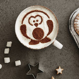 Children's Arctic Penguin Hot Chocolate Stencil