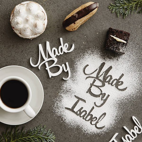 Personalised 'Made By' Baking Stencil