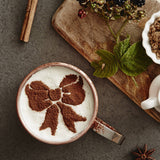 Christmas Bow Hot Chocolate Stencil