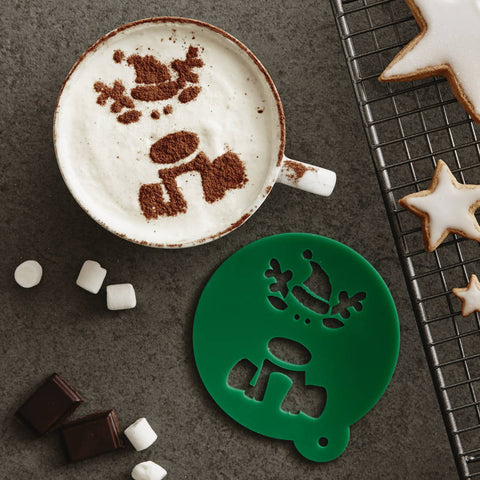 Children's Christmas Reindeer Hot Chocolate Stencil