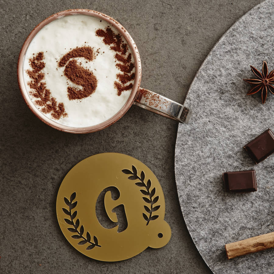 Personalised Christmas Wreath Hot Chocolate Stencil