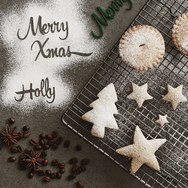 Personalised Christmas Baking Stencil