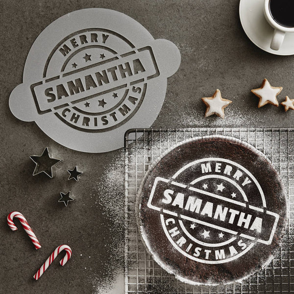 Personalised Christmas Message Cake Stencil