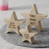 Personalised Wooden Star For Her