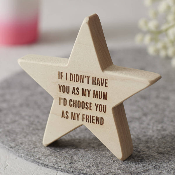 Personalised Wooden Star For Mum