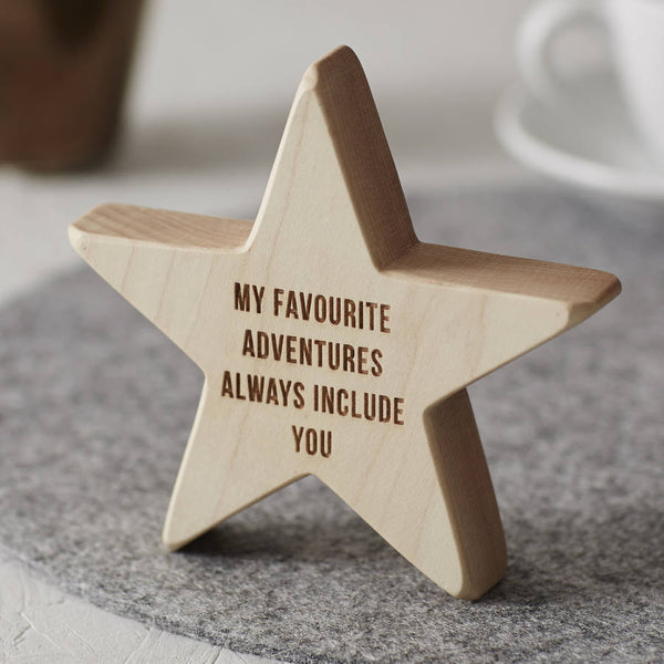 Personalised Wooden Star For Dad