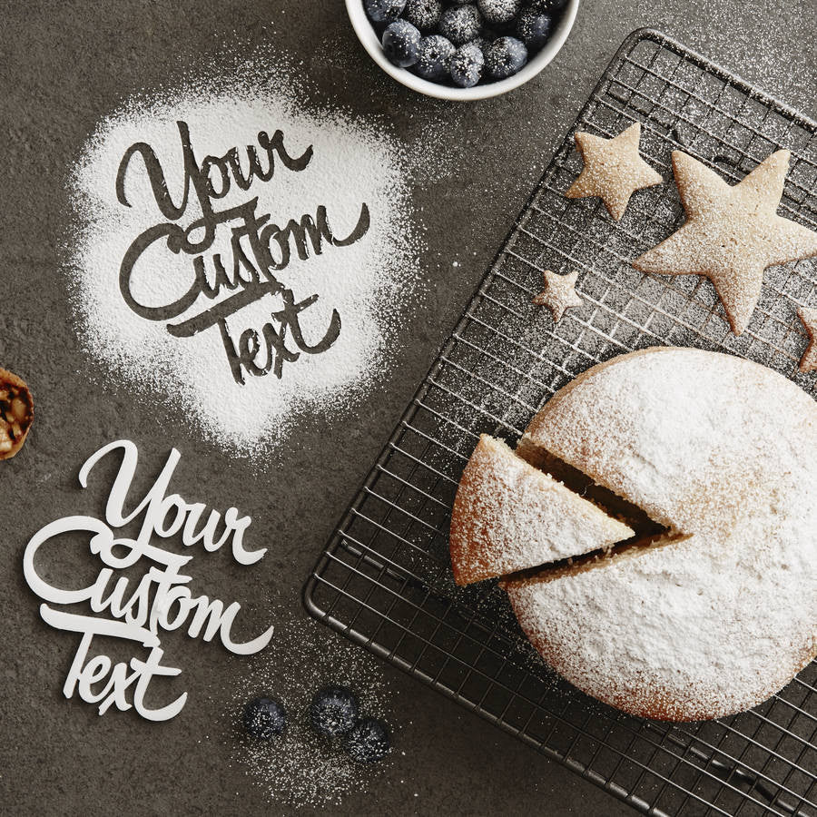 Personalised Custom Baking Stencil