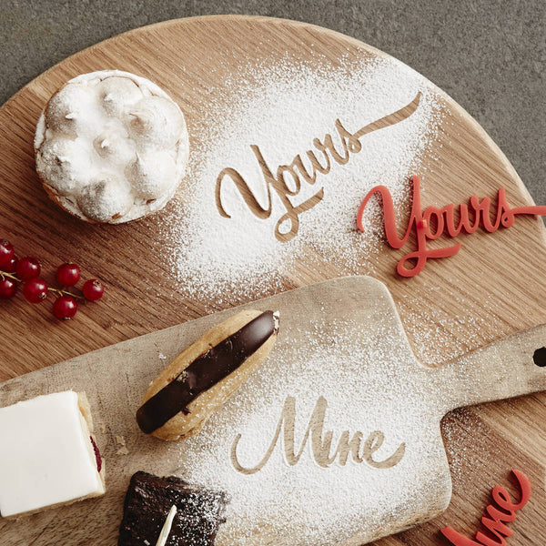 Personalised Yours Mine Baking Stencil
