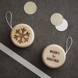 Personalised Baby's First Christmas Wooden Yoyo