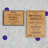 Arrow Wooden Wedding Invitation