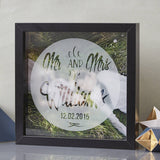 Personalised Wedding Etched Framed Print