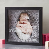 New Baby Personalised Etched Framed Print