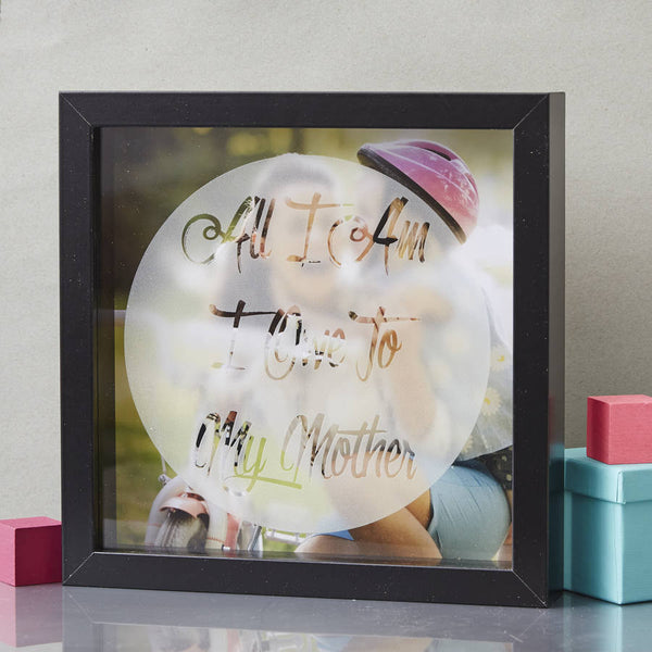 Mothers Day Personalised Etched Framed Print