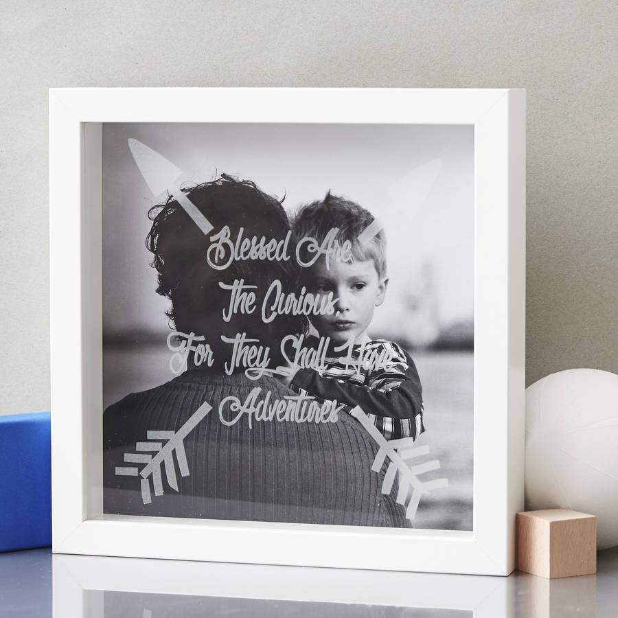 Personalised Father's Day Etched Framed Print