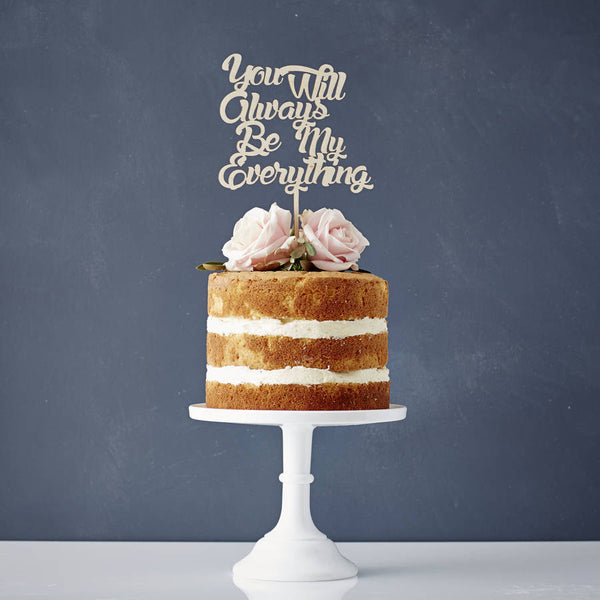Personalised Song Lyrics Wooden Wedding Cake Topper