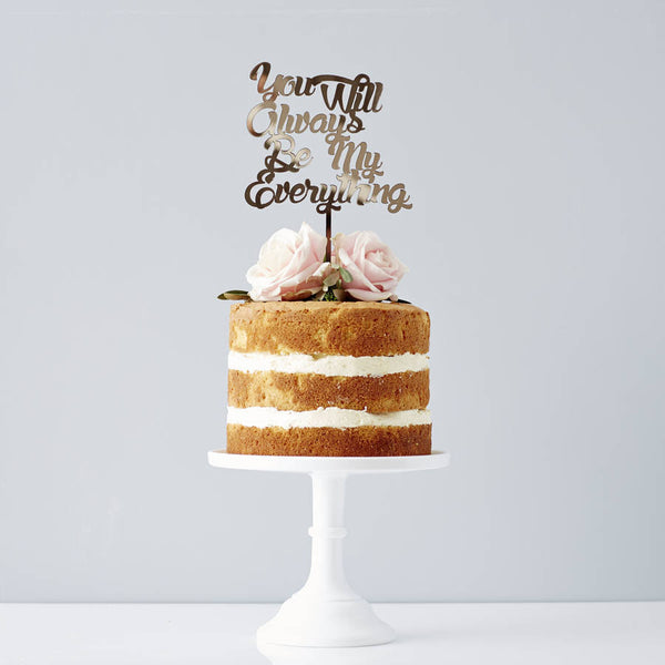 Personalised Song Lyrics Wedding Cake Topper