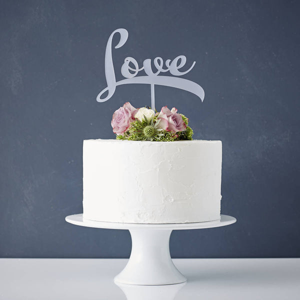 Calligraphy 'Love' Cake Topper