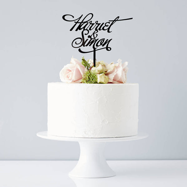 Elegant Personalised Couples Wedding Cake Topper