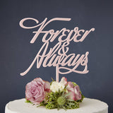 Elegant 'Forever And Always' Wedding Cake Topper