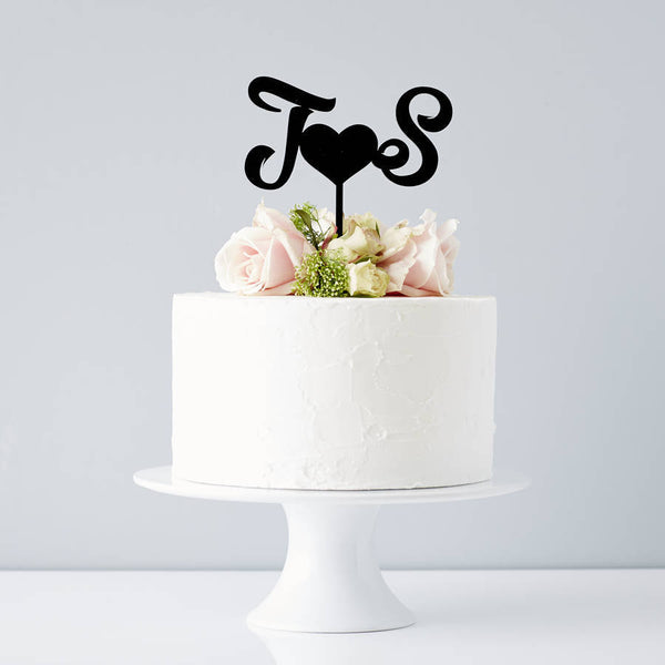 Personalised Monogram Wedding Cake Topper