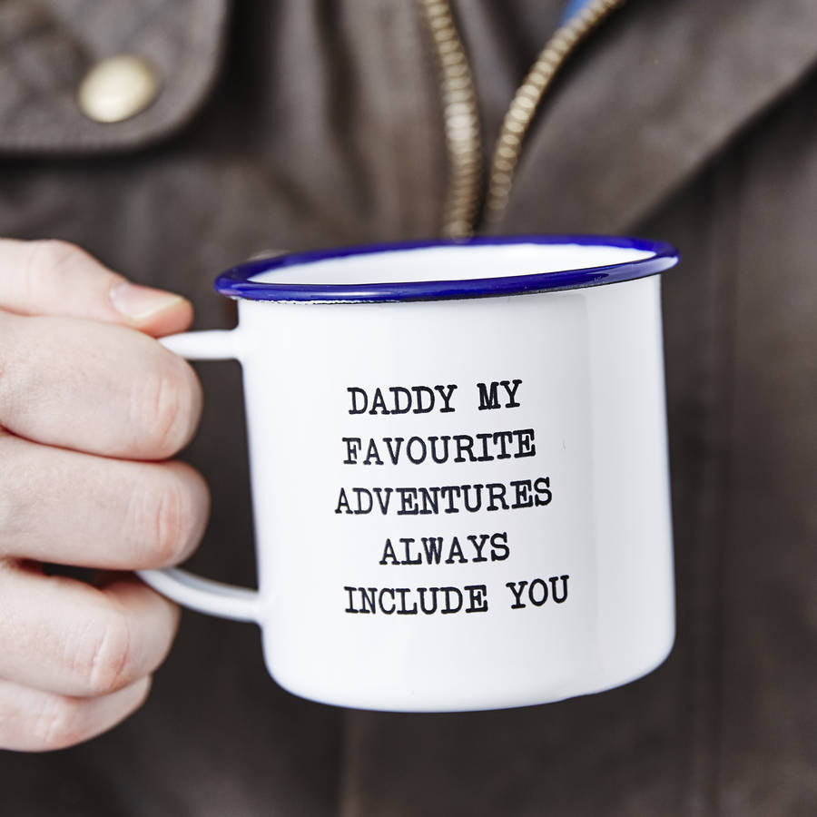 Personalised Father's Day Message Enamel Mug