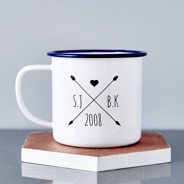 Personalised Enamel Wedding Mug