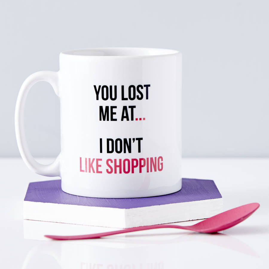 Personalised Shopaholic Mug