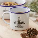 Personalised Adventurer Enamel Mug