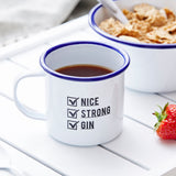 Tick Box Personalised Enamel Mug