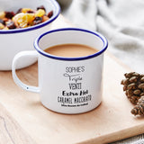 Personalised Drink Order Enamel Mug