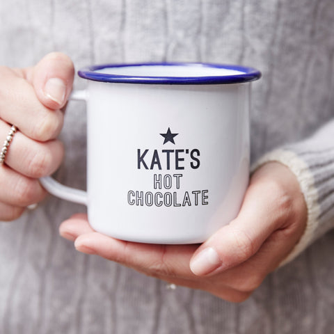 Hot Chocolate Personalised Enamel Mug