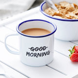 Good Morning Personalised Enamel Mug