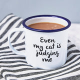 Pet Quote Personalised Enamel Mug