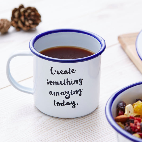 Personalised Quote Enamel Mug