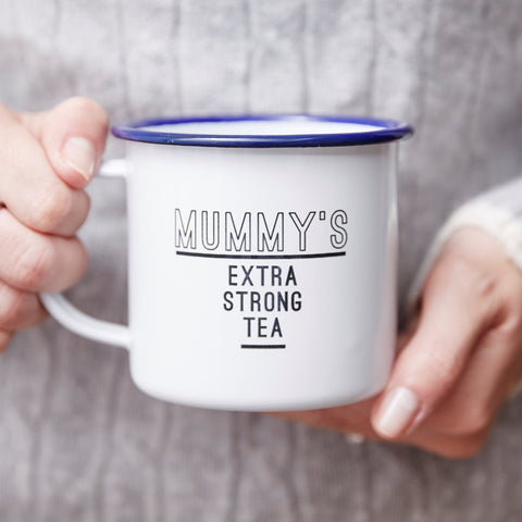 Enamel Personalised Mug For Her