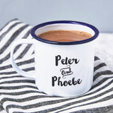 Couples Personalised Enamel Mug
