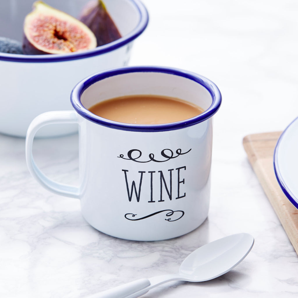 Wine Personalised Enamel Mug