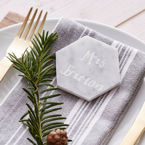 Marble Mr And Mrs Personalised Place Setting