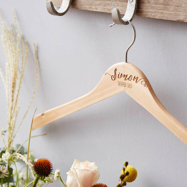 Dad's Personalised Wooden Coat Hanger
