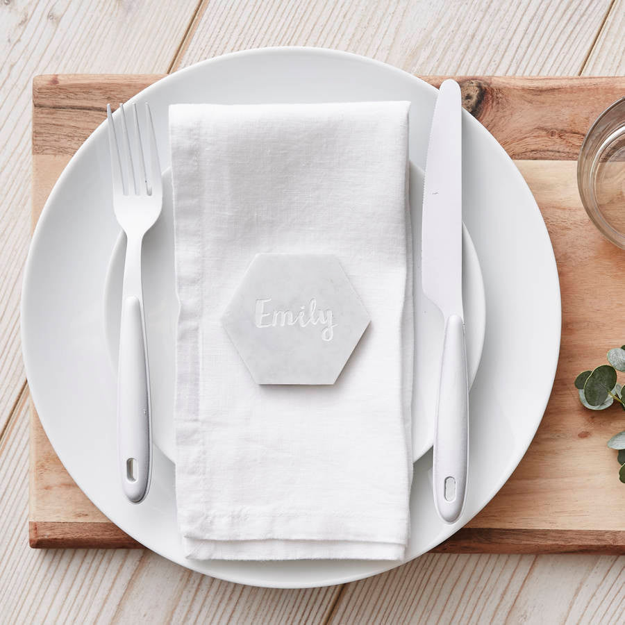 Marble Personalised Place Setting